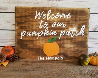 Fall Home Decor, Fall sign, Fall Porch Sign, Welcome Fall Sign, Pumpkin Patch, Family Name Sign, Hello Fall, Hello Autumn, Autumn Sign