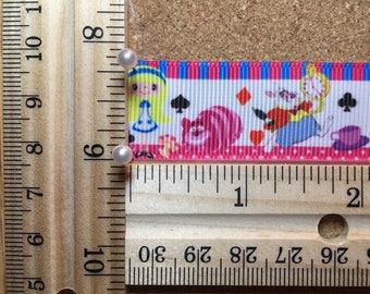 Disney Alice in Wonderland 7/8 inch Grosgrain Ribbon