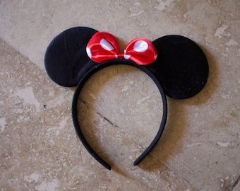 Minnie Mouse Ears with Bow