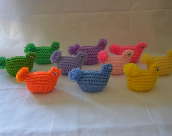 Knitted Easter Egg Chick (A)