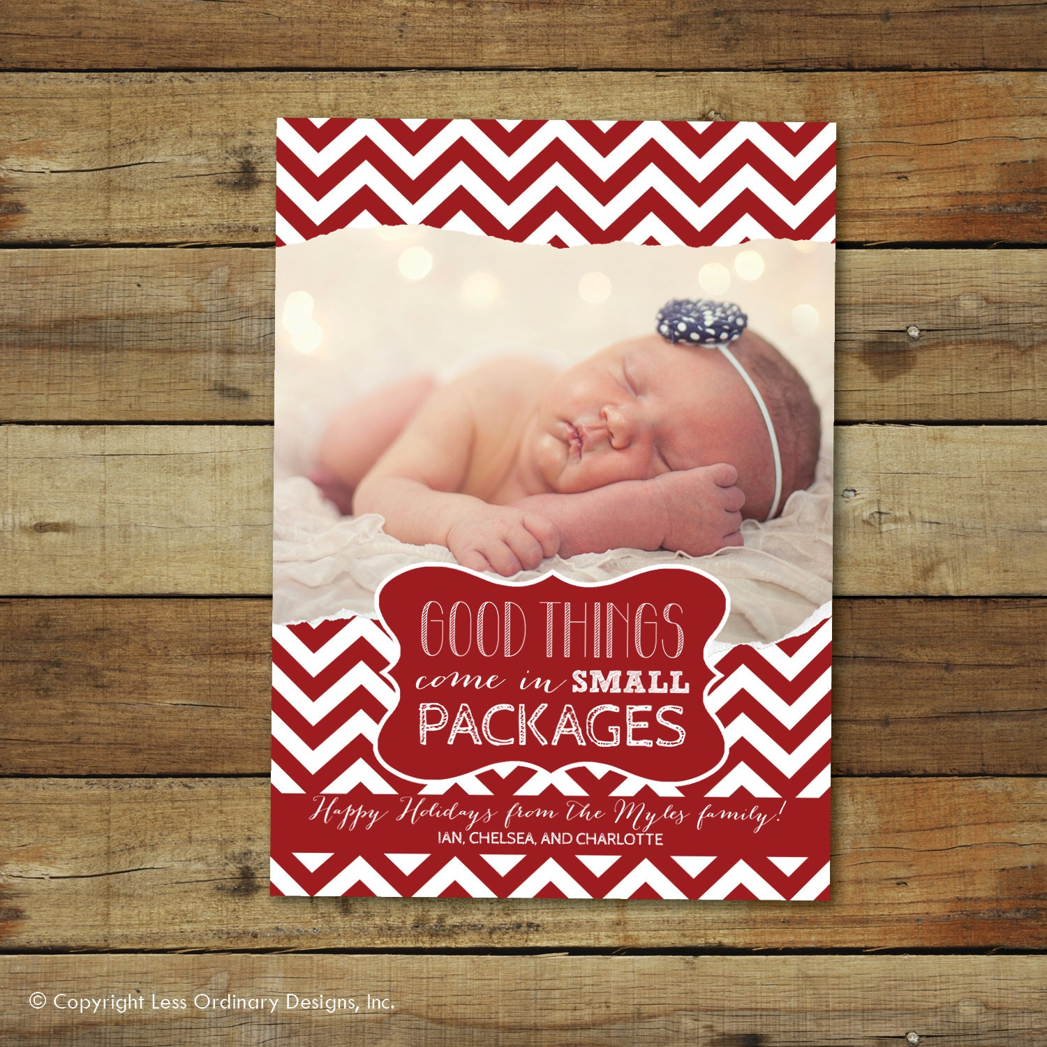 Christmas Baby Announcement Card
