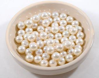 8mm Cream Glass Pearls