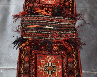 1.8' x 3.9' Free Shipping Beautiful Vintage Afghan Khorjin