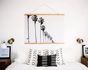 B&W California Palms. Palm Tree Poster. Palm Tree Print. Palm Tree Art. Palm Tree Photograph.