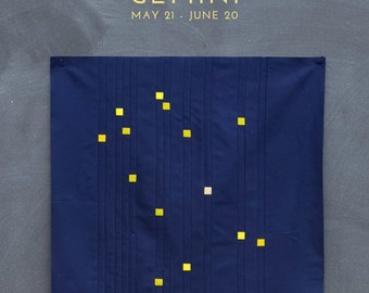Gemini Constellation Block PDF pattern - Quilting Patchwork