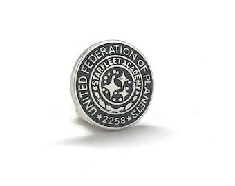 United Federation of Planets Collector Lapel Pin Starfleet Academy 2258 Cadet Training Badge Graduation Star Fleet Insignia Enamel Pin