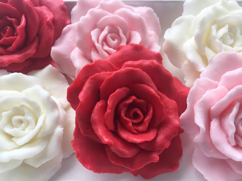 Rose Soap Favors set of 10 Rose Soap Favors Wedding Soap