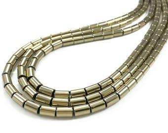 6*4mm Hematite Cylinder Beads, Hematite Beads, Hematite Jewelry