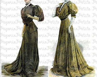 Victorian Women of Fashion Digital Download Collage Sheet A