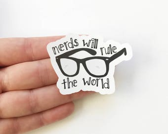 Nerd Stickers - Nerd Gift - Funny Stickers - Envelope Seals - Packaging Stickers - Nerds Will Rule the World
