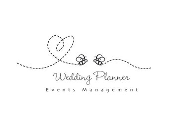 Bee logo, wedding planner logo, events logo, custom logo, business logo, bee logo, honey logo, instant logo, instant logo download.