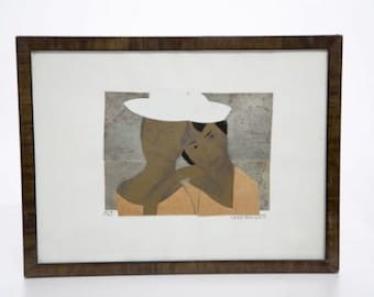 Art Deco 1927 Marie Vassilieff Collage on Paper Signed Original