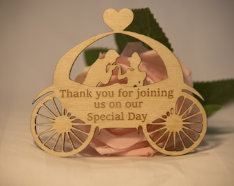 Princess in carriage Thank You Favours
