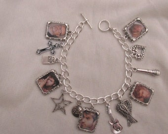 George Michael Photo  Charms Bracelet