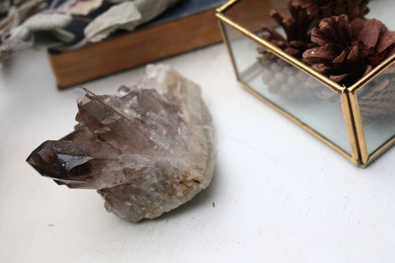 Smoky Quartz Crystal Cluster, Standing Smoky Quartz, Smoky Quartz Point, Reiki, Crystal Grid, Healing Crystal, Raw Smoky Quartz, Reiki