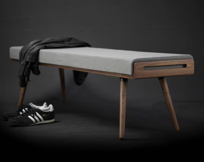 Stool / Seat / Ottoman / bench in oak / nogal