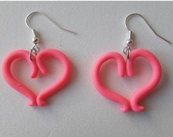 cold porcelain heart earrings