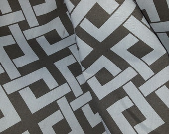 TAUPE On WHTE Geometric OUTDOOR Upholstery Fabric,  36-45-23-0314