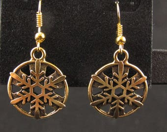 22K G/ Snowflake earrings