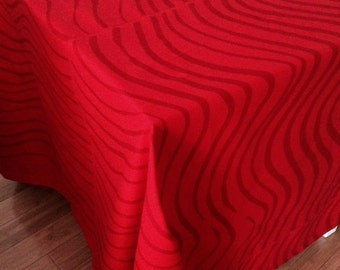 "Modern tablecloth red Marimekko Silkkikuikka  cotton 55""x80"""