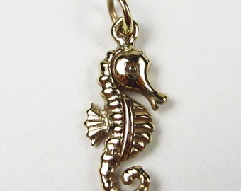 Natural Bronze Small Seahorse Charm