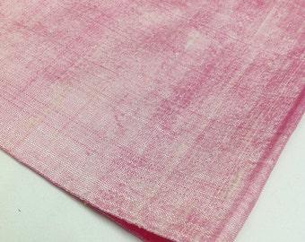 Baby Pink Dupioni Silk - Indian Silk Fabric - Pure Silk Dupioni - Raw Mulberry Silk - Indian Dupioni Silk by Yard