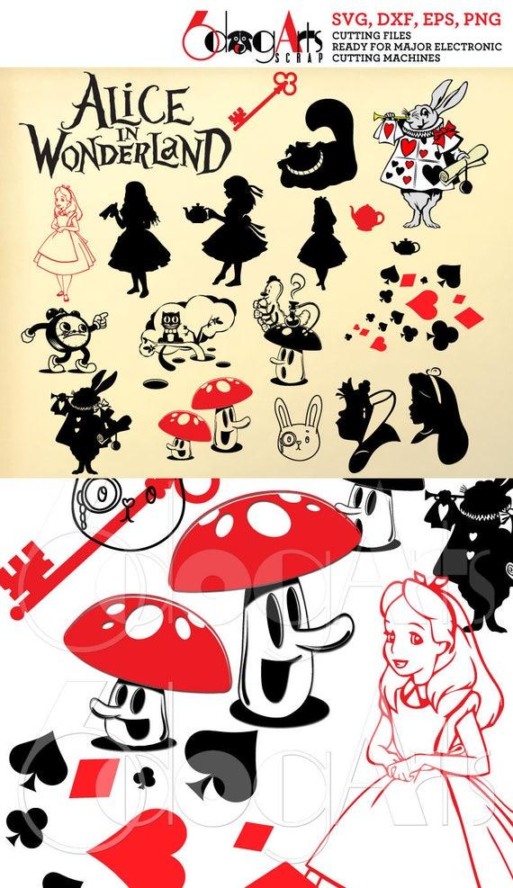 Alice In Wonderland Digital Cut Files Svg Dfx Eps Png