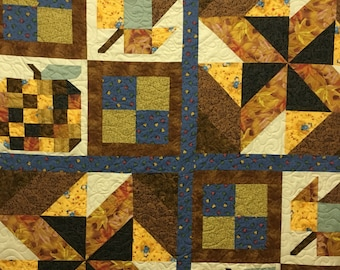 Fall sample quilt 72 x 84.
