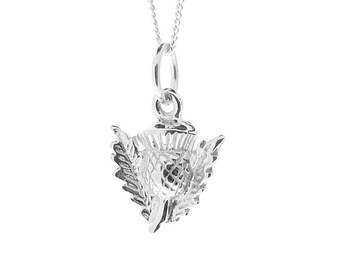 Sterling Silver Thistle Pendant & Chain