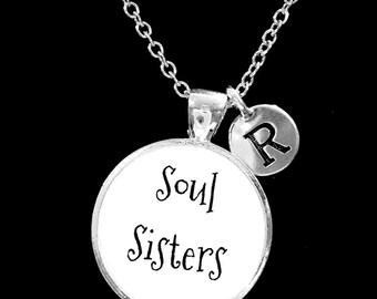 Initial Necklace, Best Friend Necklace, Soul Sisters Necklace, Best Friend Gift, Sister Necklace, Gift Necklace