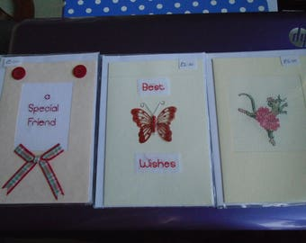 Sewn cards for females