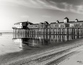 Old Orchard Beach Pier, Maine, 8x10 Inch Print