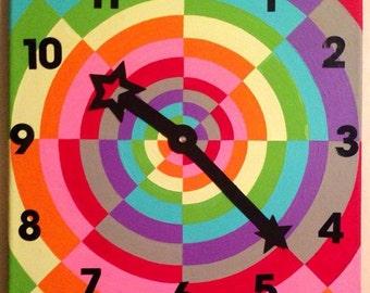 Colorful clock paintings 10:23