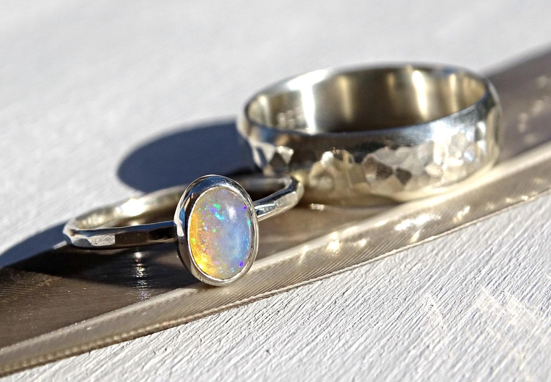zoom - Opal Wedding Ring Sets