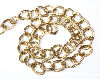Gold Chain Links Trim, Round Links Chain by the Yard