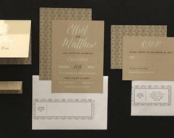 Kraft Wedding Stationery Set