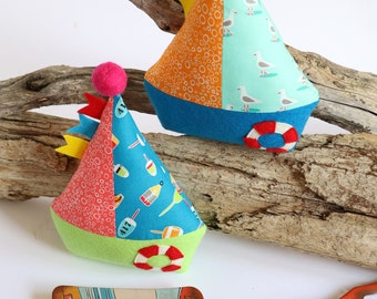 Little Boats : boat pattern, sailing boat toy, plush boat, boat sewing pattern, fabric boat, beginner pattern, felt boat pattern, sailboat