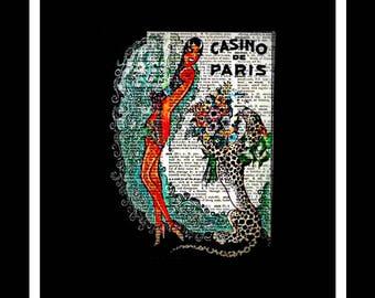 591 Josephine Baker Vintage Dictionary Art