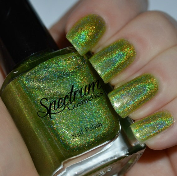 FROG PRINCE Linear Holographic GREEN Nail Polish