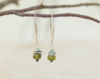 Earrings READY TO SHIP Boho Jewelry Boho Earrings Dangle Earring Drop Earring Semiprecious Stone Best Friend Gift for Her Gift for Bride