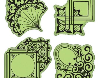 Inkadinkado Decorative Ornaments Inspired Images Set Cling Rubber Stamp