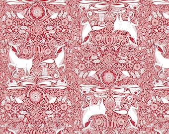 I Love Christmas - The Gathering Red - 1 YARD - Blend Fabrics