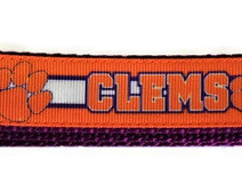 "Clemson University ""Tigers"" Inspired Adjustable Dog Collar"