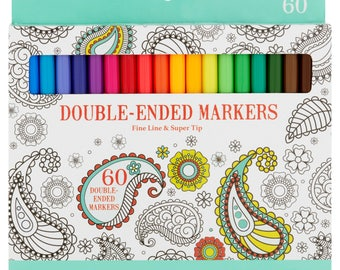 Double-Ended Markers - 60 count