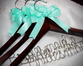Bridesmaid hangers, Bridesmaids gifts,  bridesmaids hangers,  bridesmaid set, set of 3 hangers,  maid of honor gift,  bridal party hangers
