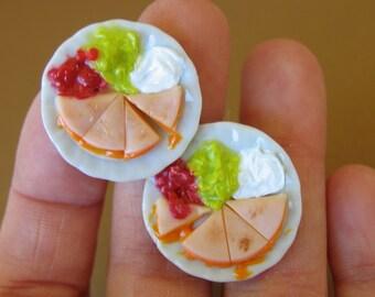 Cheese Quesadilla Cuff Links - Miniature Food Jewelry -Food cuff links - mENS CUFF LINKS - Quesadilla jewelry