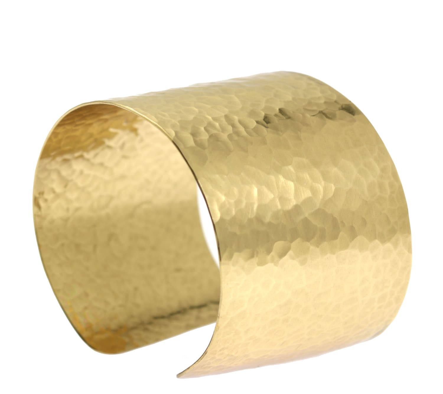 Hammered Gold Cuff Bracelet Wide Gold Cuff Statement Gold