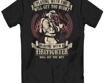 Firefighter gift for him, Firefighter T Shirts, Firefighter gift, Firefighter boyfriend, Firefighter, Fireman gifts, Fireman T shirt