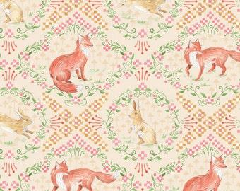 Woodland Crib Bedding - Pink Fox Crib Sheet / Woodland Nursery Bedding / Girls Mini Crib Sheet / Fitted Baby Sheet by Babiease