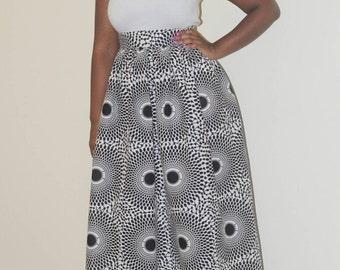 African maxi skirt,
